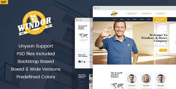 Windor – Manufacturing WordPress Theme            TFx Henrik Takuma