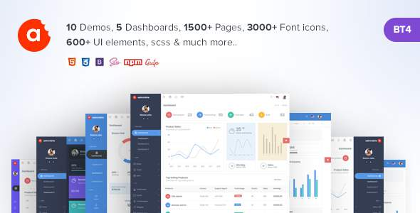 AdminBite Powerful Bootstrap 4 Admin Template            TFx Hinata Antiman