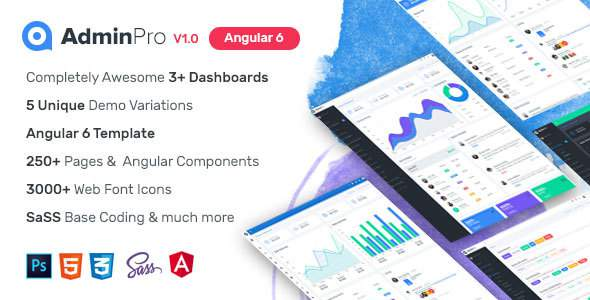 AdminPro Angular 6 Dashboard Template            TFx Johnathon Ashkii