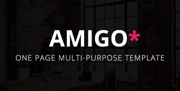 Amigo – One Page Multi-Purpose Template            TFx Jeff Norbert