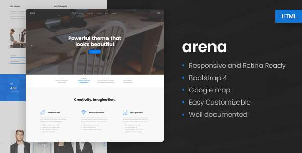 Arena - Business & Agency HTML5 Template            TFx Shaw Wenceslaus