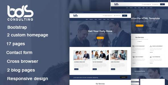 BDS - Consulting & Business HTML Template            TFx Devon Gabe