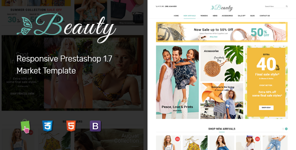 Beauty - Modern Responsive PrestaShop 1.7  Fashion Theme            TFx Kendal Harrison