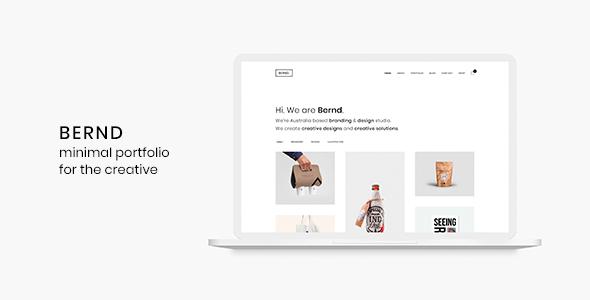 Bernd – Minimal WordPress Portfolio Theme            TFx Zachery Erick