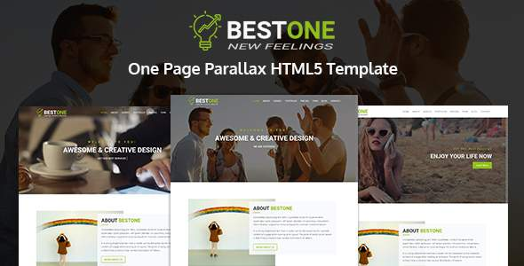 Bestone | One Page Parallax HTML5 Template            TFx Pacey Oliver
