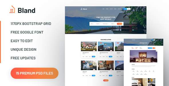 Bland – Real Estate PSD Template            TFx Lloyd Gregg