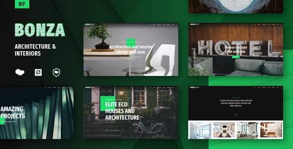 Bonza Architecture & Interior WordPress Theme            TFx Tayler Gregory