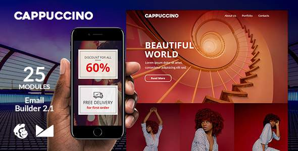 Cappuccino Responsive Email Template + Online Emailbuilder 2.1            TFx Patrick Stafford