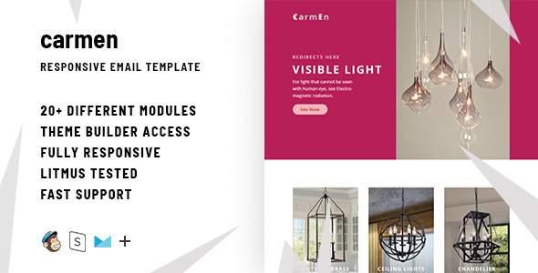 Carmen – Responsive Email + StampReady Builder            TFx Bagus Johnie