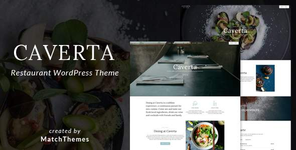 Caverta - Fine Dining Restaurant WordPress Theme            TFx Quentin David