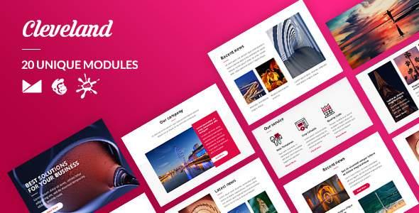 Cleveland Email-Template + Online Builder            TFx Elihu Howard
