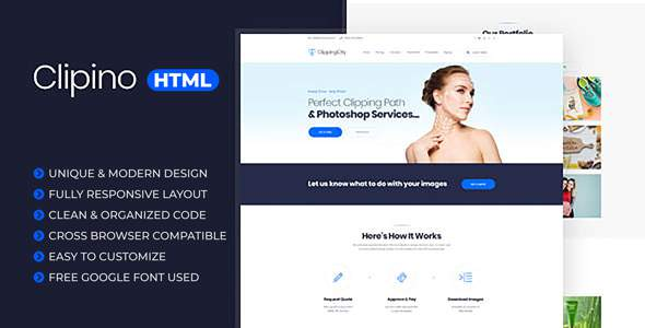 Clipino – Clipping Path Business HTML Templates            TFx Miles Kouta