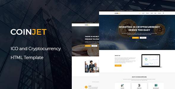 CoinJet | Bitcoin & Crypto Currency  HTML Template            TFx Andy Rowan