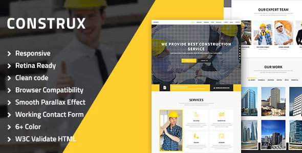 Construx – Construction, Architecture & Building Multipurpose HTML resposive Template            TFx Truman Wat