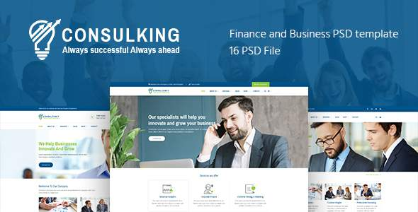 Consulking – Consulting & Business PSD template            TFx Glen Elijah