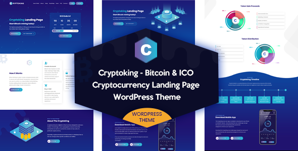 Cryptoking - Bitcoin & ICO Landing Page WordPress Theme            TFx Isaiah Grier