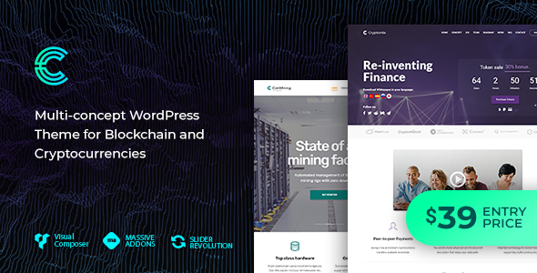 Cryptonite - Blockchain and Cryptocurrencies WordPress Theme            TFx Ozzy Valentine