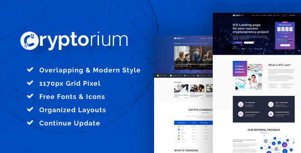 Cryptorium - ICO & Cryptocurrency Sketch Template            TFx Malcolm Laverne