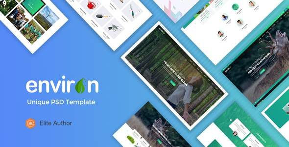ENVIRON – Non-profit and Environment PSD Template            TFx Titus Lachlan