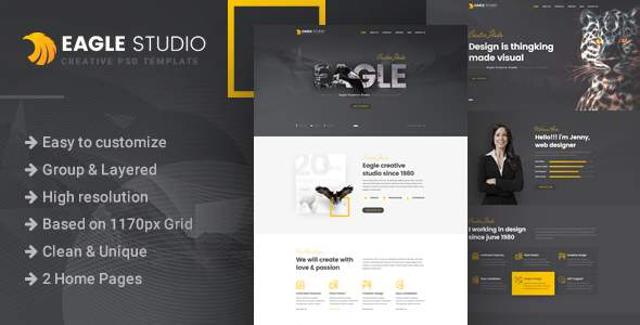 Eagle Studio – Creative PSD Template            TFx Jaydon Rhett