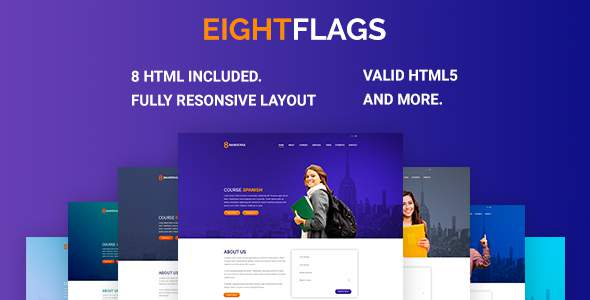 EightFlags – Courses Online Landing Template HTML            TFx Darma Elroy