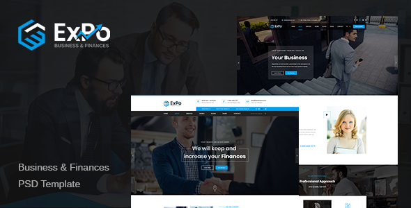 Expo – Finance, Business & Consulting PSD Template            TFx Connor Rich
