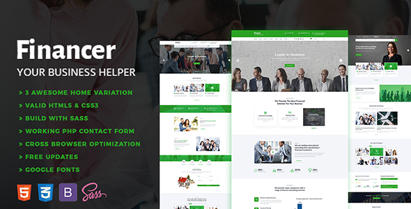 Financer - Consulting Finance & Insurance Template            TFx Moses Milton