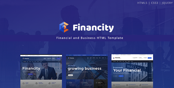 Financity – Business / Financial / Finance HTML Template            TFx Wilton Edison