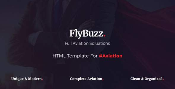 FlyBuzz - Aviation Business HTML Templates            TFx Jun Wardell