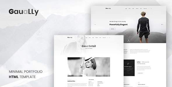 Gaually: Minimal Creative Portfolio HTML5 Template            TFx Slamet Washington
