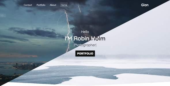 Glan - One Page Portfolio Bootstarp 4            TFx Kerry Bennett