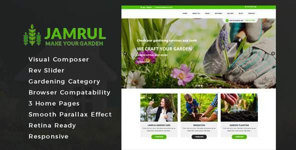 Jamrul - Landscaping WordPress Theme            TFx Cecil Quinlan