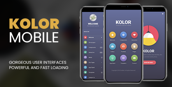 Kolor Mobile | Mobile Template            TFx Dean Setiawan