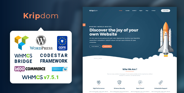 Kripdom - Responsive Web Hosting and WHMCS Themes            TFx Amir Steven
