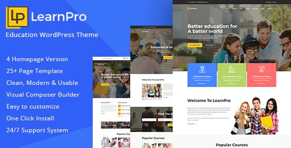 LearnPro - Education WordPress Theme            TFx Caden Ken
