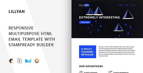 Lillyan – Responsive Email + StampReady Builder & Mailchimp            TFx Allan Neville