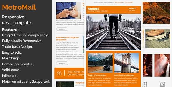 MetroMail – Responsive Email Template with Stampready Builder            TFx Royal Ryuu