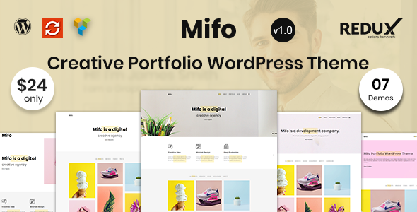 Mifo - Creative Portfolio WordPress Theme            TFx Russel Hibiki