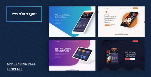Mixup - App Landing Page PSD Template            TFx Flanagan Ned