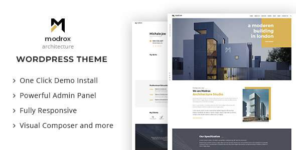 Modrox : Architecture And Interior WordPress Theme            TFx Jiro Emil