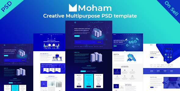 Moham - Creative Multipurpose PSD Templates            TFx Dudley Leyton