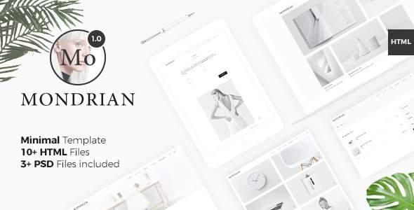 Mondrian VI – Minimal Template            TFx Deon Branden