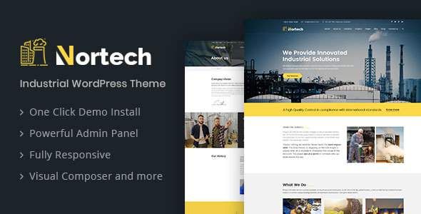 Nortech - A Industry and Engineering WordPress Theme            TFx Raymund Frederick