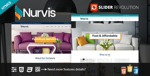 Nurvis - Furnitue Homestyle Bootstrap 4 Responsive HTML5 Template            TFx Hayate Royce