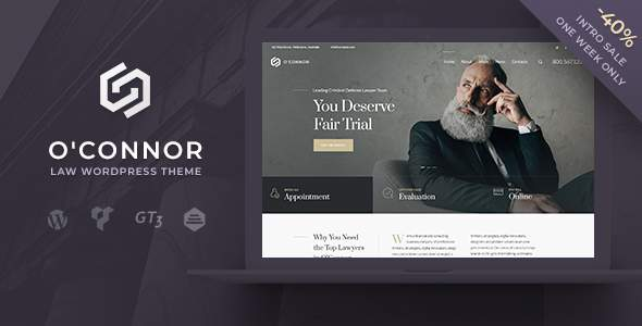 Oconnor – Lawyers Attorneys and Law Firm WordPress Theme            TFx Nanuk Robbie