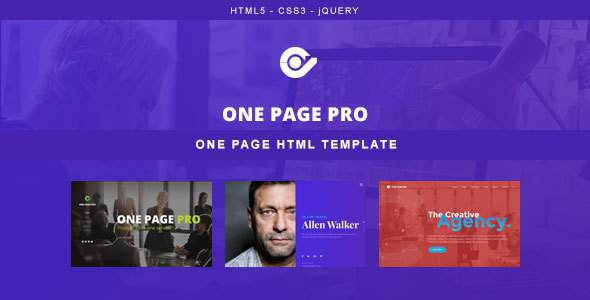 One Page Pro – Multi Purpose OnePage HTML Template            TFx Cochise Hughie