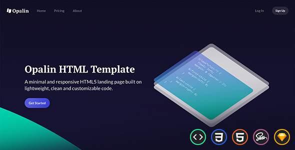 Opalin – Startup HTML Template            TFx Yoshiro Grey