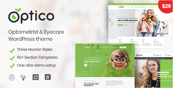 Optico | Optometrist & Eyecare WordPress Theme            TFx Clifford Zhirayr