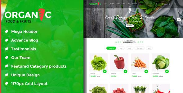 Organic Food and Fruits is modern OpenCart Theme            TFx Max Stafford