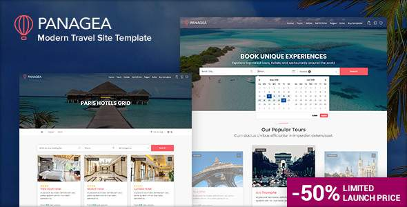 Panagea - Travel and Tours listings template            TFx Mansur Ed